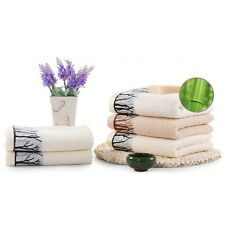 Chic Thick Soft Towels Bathroom Beach Wash Bamboo fiber Towel Washcloth S73