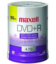 Maxell Re-Writable DVD-R and DVD+R Multiple Spindle Options