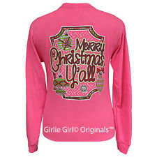 "Girlie Girl Originals ""Merry Christmas Y'all"" Long Sleeve Unisex Fit T-Shirt"