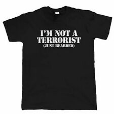 I'm Not A Terrorist, Mens Funny Beard T Shirt, Hipster Movember Gift for Dad
