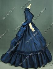 Gothic Victorian Bustle Belle Dress Gown Theater Reenactment Clothing 330