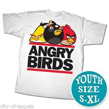 Angry Birds Youth Kids T Shirt White XL Extra Large 100% Cotton