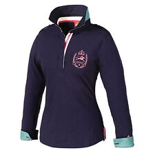 TOTTIE Ladies Imogen Navy Blue Rugby Shirt Top 20% OFF RRP £49.95 Size S M BNWT