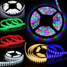 5M 3528 5050 RGB 300 600 SMD Flexible LED Strip Light / Remote 12V Power Supply