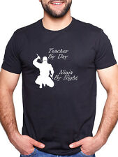 TEACHER BY DAY NINJA BY NIGHT PERSONALISED T SHIRT