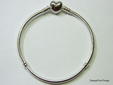 NEW! AUTHENTIC PANDORA BRACELET HEART CLASP 590719-18CM-7.1IN BOX INCLUDED