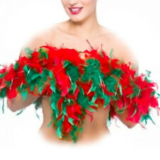 Christmas Feather Boa Tinsel Red Green Mixed Fluffy Full Elf Mrs Clause Soft Fur