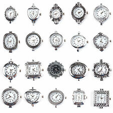 Bulk Silver Tone Quartz Watch Faces Findings Choose From the 10 working Fashion