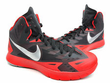 NEW 10.5 Nike Lunar Hyperquickness Basketball Red Black/Wolf Grey 749882-006