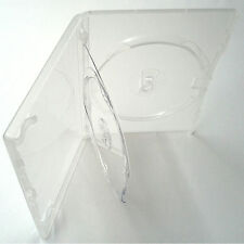 Amaray Triple DVD Clear Case with Double Tray 14mm Spine 1 5 10 25 50 100 200