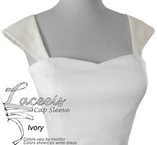 Cap Sleeves or Corset Kit for Wedding Gown Fit Ivory White Champagne Candlelt
