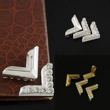 DIY 20 Lots Rhinestone Book Files Albums Folders Corner Protectors Scrapbooking