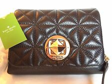 Kate Spade Whitaker Place Naomi Crossbody Leather Quilted Purse Black or Mercury