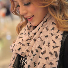 Fashion New Lady Women's Long Soft Wrap Lady Shawl Silk Chiffon Scarf Scarves !
