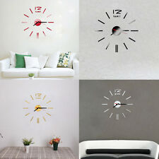 Fashion Mini Modern DIY Wall Clock 3D Sticker Design Home Office Room Decor gift