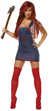 CHUCKY SEXY COSTUME HALLOWEEN WOMEN'S COSTUME ADULT FREE SHIPPING US