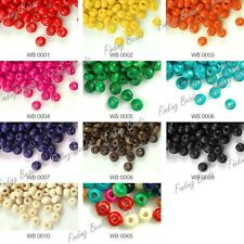 30g Approx 1300Pcs Round Wood Beads Center Drilled Dyed Wooden Fit DIY Bracelet