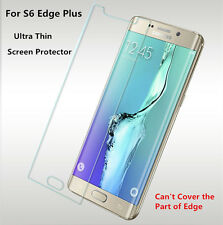 1x 2x Clear Screen Protector For Samsung Galaxy S6 Edge Plus Lot &Cleaning Cloth