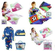 SNUGGLE UP TV BLANKET WITH SLEEVES & POCKET SOFT FLEECE KIDS BOYS & GIRLS COSY