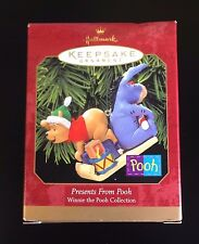 WINNIE THE POOH Hallmark Keepsake Ornament NIB 1999 Presents from Pooh