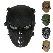 Army Mesh Skull Skeleton Airsoft Game Hunting Full Face Mask Paintball Protect