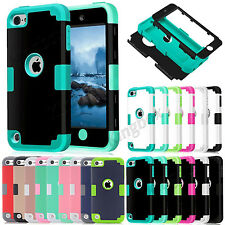 Hybrid Heavy Duty Shockproof Armor Hard Case Cover For iPod Touch 5 / Touch 6