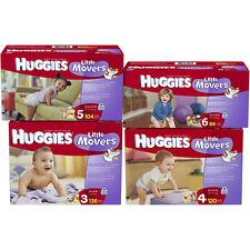 Huggies Little Movers Diapers Size 3, 4, 5, 6 CHEAP!!!