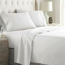 All Australian Bedding Item-1000TC Egyptian Cotton Sheets/Duvet/Flat White Solid