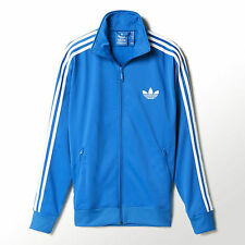 Adidas Originals Mens Adi Firebird Tracksuit Trefoil Sports Top Blue (#8120)