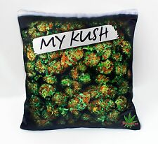 "18"" My Kush Weed Pillowcase Throw Pillow marijuana Purple Haze Cannabis Design"