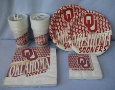 OKLAHOMA SOONERS PARTY SUPPLIES CUPS PLATES NAPKINS FREE SHIPPING
