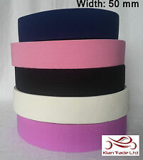 "NURSE BELT ELASTIC 2"" (50mm wide) Make your own. all colours -Rah"