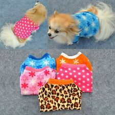 Puppy Winter Warm Coral Fleece Jacket Pet Dog Clothes Apparel Shirt XS S M L H93