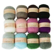 50g Skein Luxury Angola Mohair Cashmere Wool Knitting Yarn fine 12 colors U pick