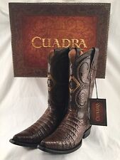 mens CUADRA AUTHENTIC crocodile belly snip toe cowboy BOOTS *ALL SIZES
