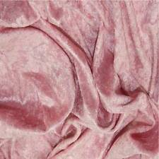 Premium PINK Crushed Velour Velvet Fabric 150cms sold by the metre