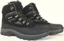 LABO Men's Winter Snow Work Boots Shoes Waterproof Insulated 5912 (Black & Brown