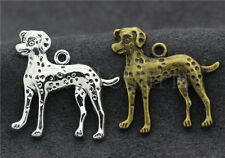 20/100pcs Antique Silver Lovely Dalmatians Jewelry Charms Pendant Craft 29x29mm