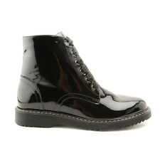 Start-rite Urban Black Patent Girls Zip-up Angry Angels Boots