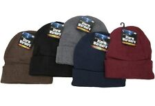 Storm Warmers Mens Beanie Hat Knit Hat Warm Winter Hat With Cuff One Size New