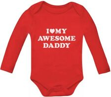 I Love My Awesome Daddy Cute Bodysuit Grow Vest Baby Long Sleeve Bodysuit Gift