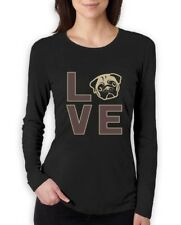 Love Pugs - Cute Pug Face Dog Lovers Gift Idea Women Long Sleeve T-Shirt Animal