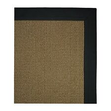 Home Dynamix Pure Floor Mat Area Accent Rug: Black, Non-Skid Backing, 2 Sizes