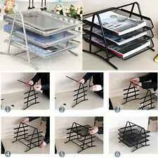 Office Trays Holder A4 Document Letter Filing Wire Mesh Storage Organiser Shelf