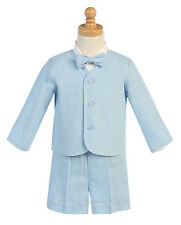 New Baby Toddler Light Blue Boys Suit Set Shorts Wedding Easter Birthday G828