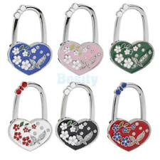 Heart Flower Folding Bag Handbag Purse Table Hook Hanger Holder Safer Decor Gift