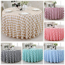 100% Polyester Gingham Check Dining Tablecloth Cloth Plaid Linens Oversized