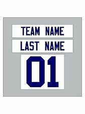 Custom Iron-On Heat Transfer NAME & NUMBER SET for Jersey or T-Shirt FOOTBALL