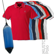 Musto MP0990  Mens Miles Tipped Cotton Pique Polo Shirt (7 Cols)