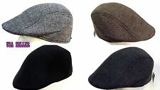 Men's Cabbie Newsboy Cap Ivy Gatsby Golf Hat Flat Herringbone Winter